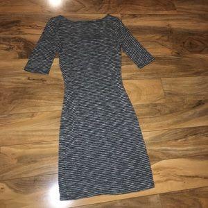 Charlotte Russe Dresses - 3/4 sleeve black & white mini dress